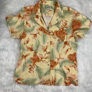 Tommy Bahama Tropical Hawaiian Shirt 100% Silk